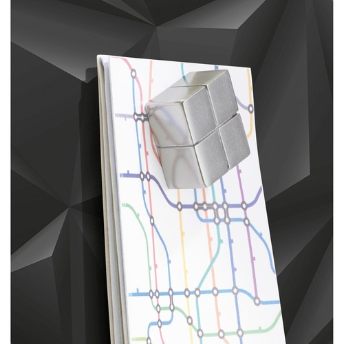 Glas-Magnetboard artverum 910x460x15mm Black-Diamond inkl. Magnete Sigel GL261 Produktbild Additional View 3 L