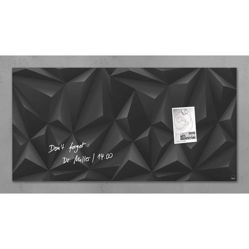 Glas-Magnetboard artverum 910x460x15mm Black-Diamond inkl. Magnete Sigel GL261 Produktbild