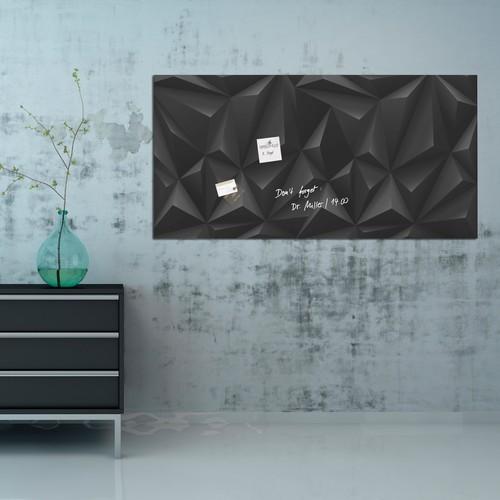 Glas-Magnetboard artverum 910x460x15mm Black-Diamond inkl. Magnete Sigel GL261 Produktbild Additional View 7 L