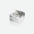 SuperDym-Magnet-Würfel C10 artverum Cube-Design 20x10x20mm silber vernickelt extra stark Sigel GL704 (PACK=2 STÜCK) Produktbild