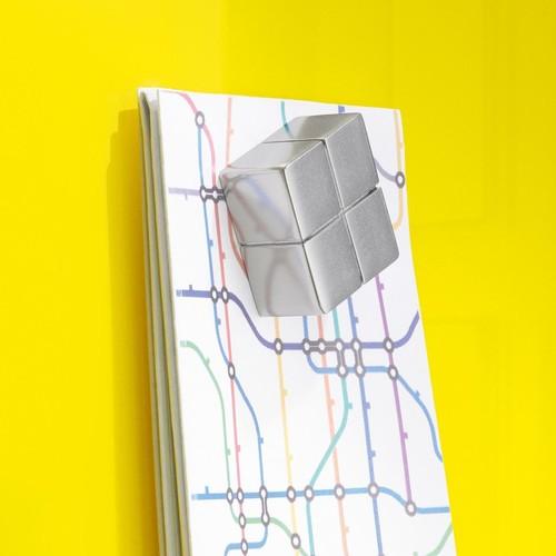 SuperDym-Magnet-Würfel C10 artverum Cube-Design 20x10x20mm silber vernickelt extra stark Sigel GL704 (PACK=2 STÜCK) Produktbild Additional View 4 L