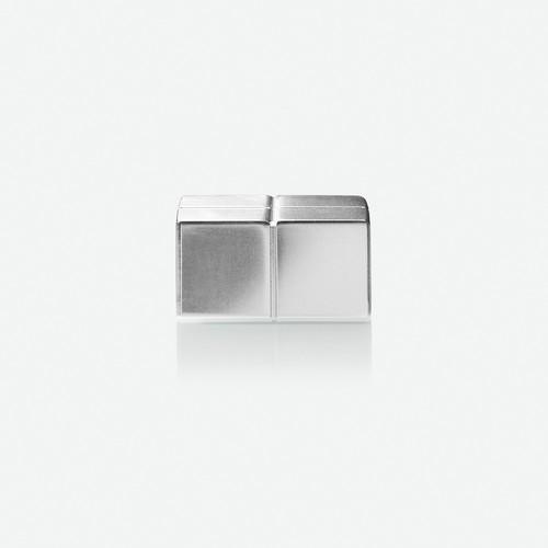 SuperDym-Magnet-Würfel C10 artverum Cube-Design 20x10x20mm silber vernickelt extra stark Sigel GL704 (PACK=2 STÜCK) Produktbild Additional View 1 L