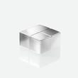 SuperDym-Magnet-Würfel C10 artverum Cube-Design 20x10x20mm silber vernickelt extra stark Sigel GL704 (PACK=2 STÜCK) Produktbild Additional View 2 S