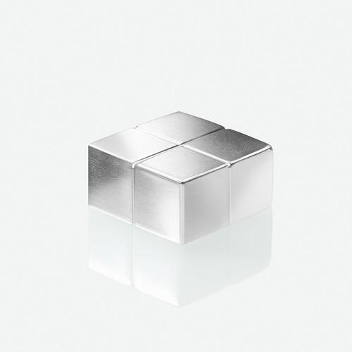 SuperDym-Magnet-Würfel C10 artverum Cube-Design 20x10x20mm silber vernickelt extra stark Sigel GL704 (PACK=2 STÜCK) Produktbild Additional View 2 L