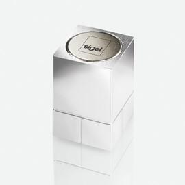 SuperDym-Magnet-Würfel C30 artverum Cube-Design 20x30x20mm silber vernickelt ultra stark Sigel GL707 (PACK=2 STÜCK) Produktbild
