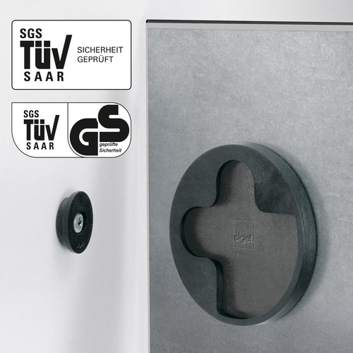 Glas-Magnetboard artverum 480x480x15mm Black Diamond inkl. Magnete Sigel GL257 Produktbild Additional View 1 L