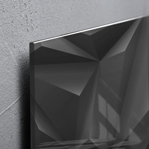 Glas-Magnetboard artverum 480x480x15mm Black Diamond inkl. Magnete Sigel GL257 Produktbild Additional View 2 L