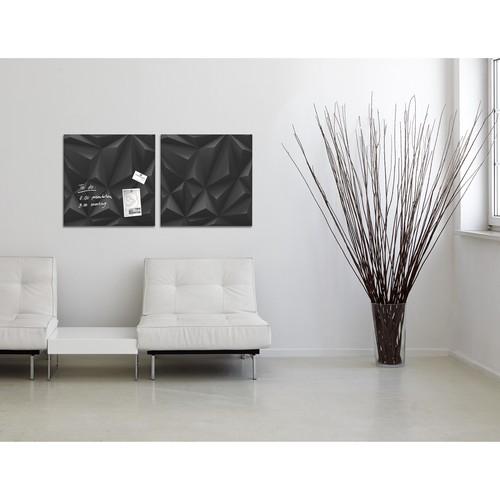 Glas-Magnetboard artverum 480x480x15mm Black Diamond inkl. Magnete Sigel GL257 Produktbild Additional View 6 L