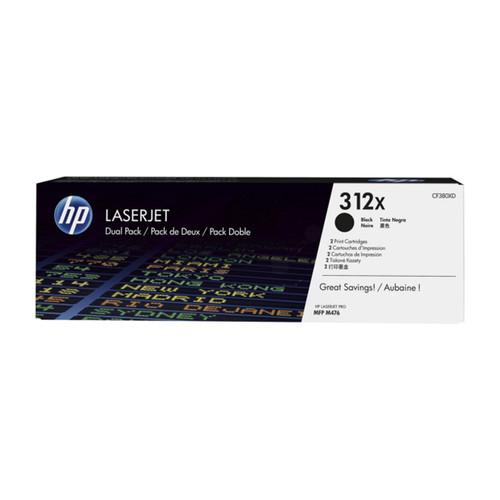 Toner Doppelpack 312XD für Laserjet Pro MFP M470 2x4400Seiten HP CF380XD (PACK=2 STÜCK) Produktbild Front View L