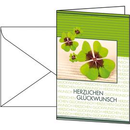 Glückwunsch-Karten inkl. Umschläge 115x170mm 220g Fortune Sigel DS004 (PACK= JE 10 STÜCK) Produktbild