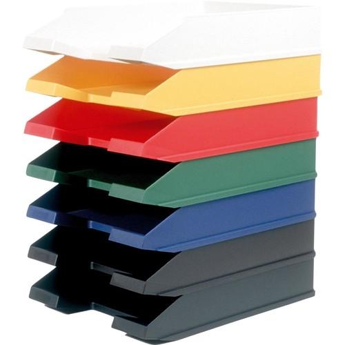 Briefkorb Economy für A4 255x345x67mm schwarz Kunststoff Helit H2361695 Produktbild Additional View 1 L