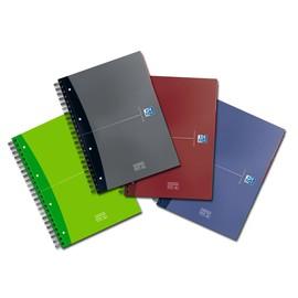 Europeanbook Oxford Office A4+ liniert 4-fach Lochung Doppelspirale 120Blatt 90g Optik Paper weiß 100100748 Produktbild
