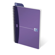 Spiralbuch Oxford Office A5 liniert Doppelspirale 90Blatt 90g Optik Paper weiß PP 100101300 Produktbild