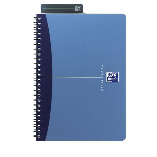 Spiralbuch Oxford Office A5 liniert Doppelspirale 90Blatt 90g Optik Paper weiß PP 100101300 Produktbild Additional View 1 L