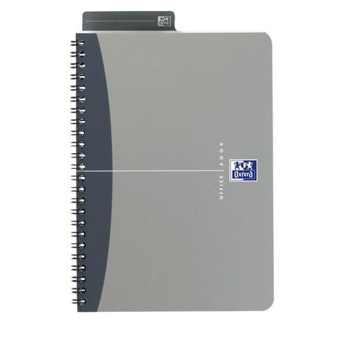 Spiralbuch Oxford Office A5 liniert Doppelspirale 90Blatt 90g Optik Paper weiß PP 100101300 Produktbild Additional View 2 L