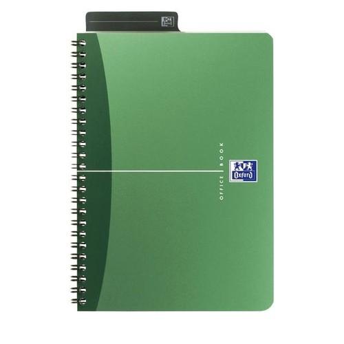 Spiralbuch Oxford Office A5 liniert Doppelspirale 90Blatt 90g Optik Paper weiß PP 100101300 Produktbild Additional View 3 L