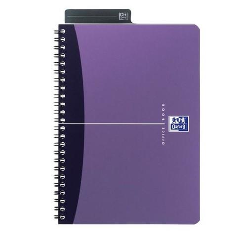 Spiralbuch Oxford Office A5 liniert Doppelspirale 90Blatt 90g Optik Paper weiß PP 100101300 Produktbild Additional View 5 L