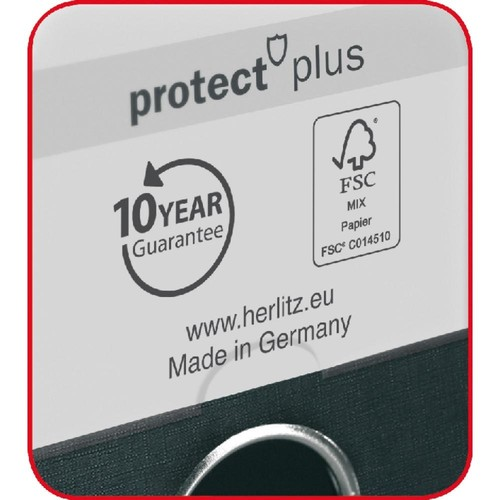 Ordner maX.file protect+ A4 80mm schwarz Kunststoff Herlitz 10834315 Produktbild Additional View 3 L