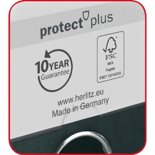 Ordner maX.file protect+ A4 80mm gelb Kunststoff Herlitz 10834356 Produktbild Additional View 2 L