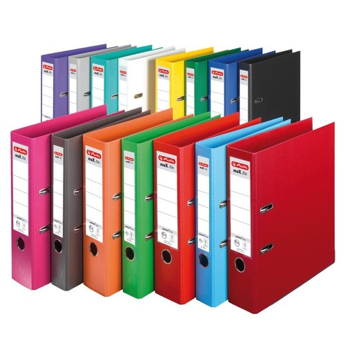 Ordner maX.file protect+ A4 80mm gelb Kunststoff Herlitz 10834356 Produktbild Additional View 3 L