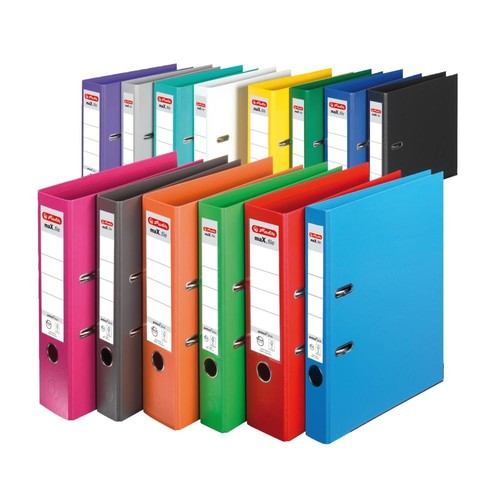 Ordner maX.file protect+ A4 80mm gelb Kunststoff Herlitz 10834356 Produktbild Additional View 4 L