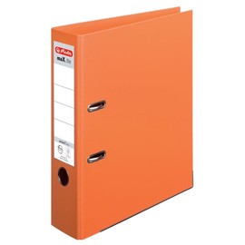 Ordner maX.file protect+ A4 80mm orange Kunststoff Herlitz 10834471 Produktbild