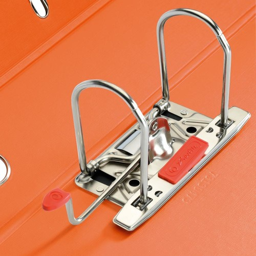 Ordner maX.file protect+ A4 80mm orange Kunststoff Herlitz 10834471 Produktbild Additional View 1 L