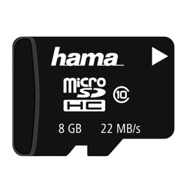 Speicherkarte Micro Class10 ohne Adapter Securedigital High Capacity Card 8GB Hama 00114831 Produktbild