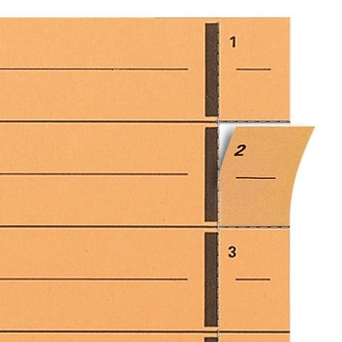 Trennblätter mit abtrennbaren Taben A4 240x300mm blau vollfarbig 250g Karton Elba 400004665 (PACK=100 STÜCK) Produktbild Additional View 3 L