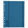 Trennblätter Oxford A4 blau 250g vollfarbig Karton 240x300mm mit perforierten Taben 400004665 (PACK=100 STÜCK) Produktbild