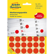 Markierungspunkte 18mm ø rot Zweckform 3374 (PACK=1056 STÜCK) Produktbild