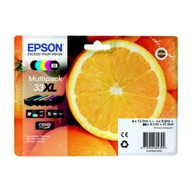 Tintenpatrone 33XL für Expression Premium XP-530/630/830 Multipack 5-farbig Epson T33574010 (PACK=5 STÜCK) Produktbild