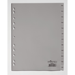 Register A4 297x215/230mm Dez.-Jan. 12-teilig grau Plastik Durable 6507-10 Produktbild