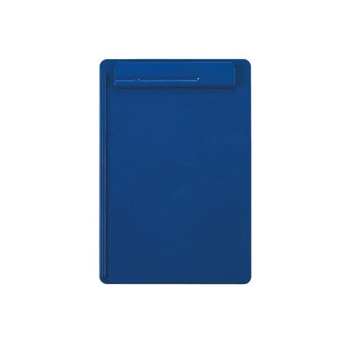 Klemmbrett go uni Klemme kurze Seite A4 blau Kunststoff Maul 23251-37 Produktbild Front View L