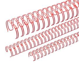 Draht-Binderücken 3:1-Teilung 9,5mm ø bis 75Blatt rot Renz 310950234 (PACK=100 STÜCK) Produktbild