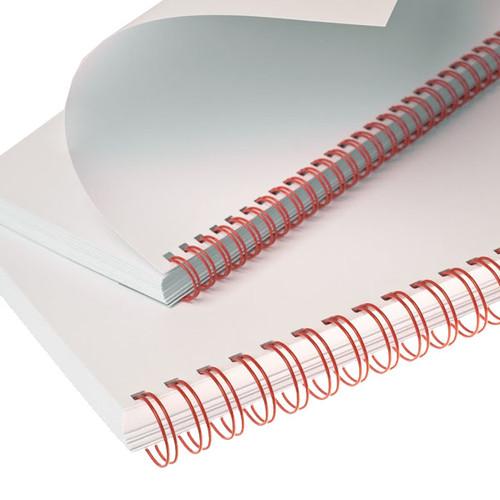 Draht-Binderücken 3:1-Teilung 12,7mm ø bis 105Blatt rot Renz 311270234 (PACK=100 STÜCK) Produktbild Additional View 1 L