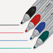 Glasboard-Marker artverum 2-3mm Rundspitze blau abwischbar Sigel GL712 (PACK=5 STÜCK) Produktbild Additional View 2 S