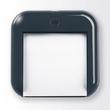 Haftnotizbox eyestyle mit Stiftehalter + Haftnotizen dunkelgrau/schwarz Kunststoff-Acryl Sigel SA162 Produktbild Additional View 1 S