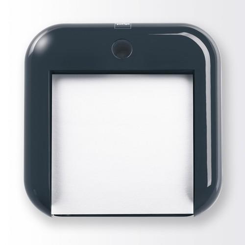 Haftnotizbox eyestyle mit Stiftehalter + Haftnotizen dunkelgrau/schwarz Kunststoff-Acryl Sigel SA162 Produktbild Additional View 1 L
