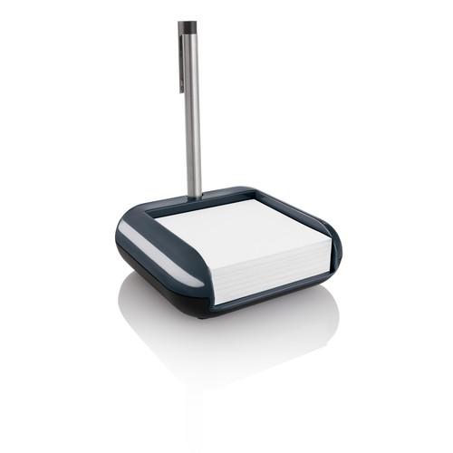 Haftnotizbox eyestyle mit Stiftehalter + Haftnotizen dunkelgrau/schwarz Kunststoff-Acryl Sigel SA162 Produktbild Additional View 2 L