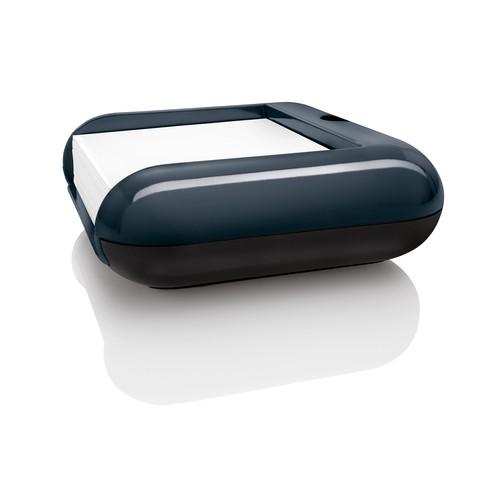 Haftnotizbox eyestyle mit Stiftehalter + Haftnotizen dunkelgrau/schwarz Kunststoff-Acryl Sigel SA162 Produktbild Additional View 3 L