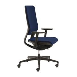Bürodrehstuhl mit Armlehnen Klöber dunkelblau Standard Mera98  0428-70 Produktbild