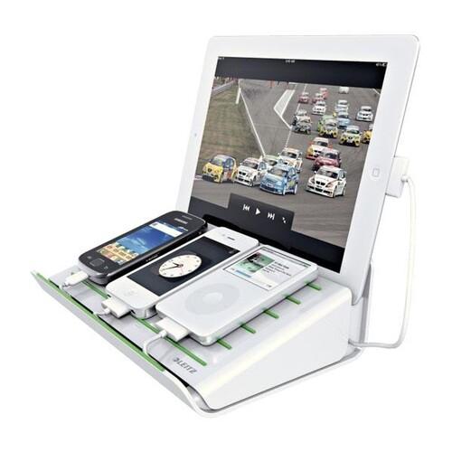 Aktion Ladestation für iPads/IPhone/ Tablet weiß Leitz 6264-00-01 Produktbild Additional View 2 L