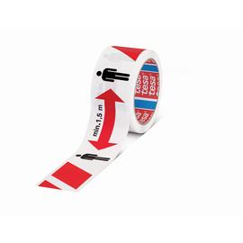 Markierungs-Klebeband mit Aufschrift Abstand halten 50mm x 50m rot/weiß Tesa PP 58263-00000-00 (RLL=50 METER) Produktbild