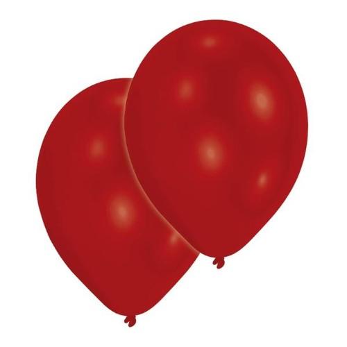 Luftballons Standard B90 ø27,5cm rot Latex Amscan INT995433 (PACK=10 STÜCK) Produktbild Front View L