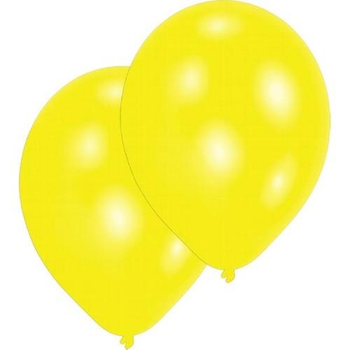 Luftballons Standard B90 ø27,5cm gelb Latex Amscan INT995431 (PACK=10 STÜCK) Produktbild Front View L