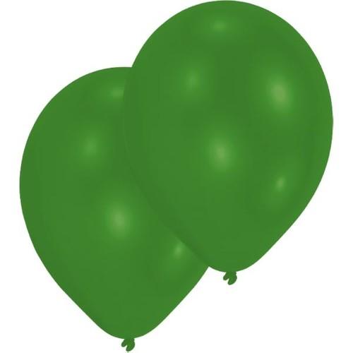 Luftballons Standard B90 ø27,5cm grün Latex Amscan INT995437 (PACK=10 STÜCK) Produktbild Front View L