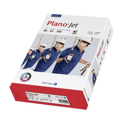 Kopierpapier Planojet A4 80g weiß (PACK=500 BLATT) Produktbild Front View L