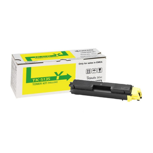 Toner TK-5135Y für TASKalfa 260 5000Seiten yellow Kyocera 1T02PAANL0 Produktbild Front View L