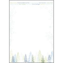 Weihnachts-Motiv-Papier A4 90g Trees Sigel DP090 (PACK=25 BLATT) Produktbild